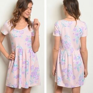 NEW! Blush Pink & Lavender Skater Dress